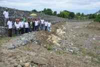 Gov. Ryan inspects Burgos' River Flood Control Project